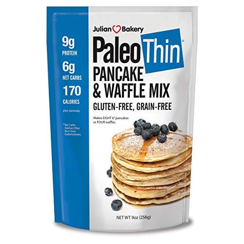 Julian Bakery   Paleo Thin   Pancake   Waffle Mix   Easy To make   Grain-Free   Gluten-Free   Low Carb   9 Oz