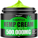 Hemp Pain Relief Cream - 500,000MG - Relieves Muscle, Joint Pain, Lower Back Pain, Knees, and Fingers -...