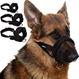 SCENEREAL Dog Muzzles for Small Medium Large Dogs 3 Packs Adjustable Soft Safety Muzzle for Dogs Anti Biting Barking