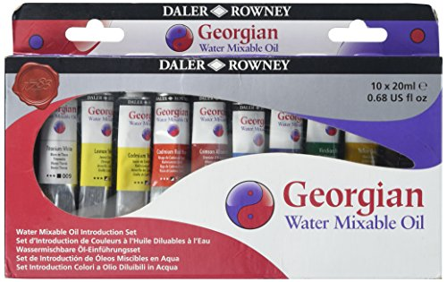 Daler Rowney Georgian Set, 10 Colores Surtidos, 10 x 20 ml