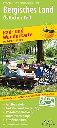 Bergisches Land, Östlicher Teil: Rad- und Wanderkarte mit Ausflugszielen, Einkehr- & Freizeittipps, wetterfest, reissfest, abwischbar, GPS-genau. 1:50000 (Rad- und Wanderkarte: RuWK)