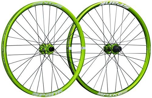 Spank Spike Race28 DH 27,5 Zoll whlset 20 mm,12/135 mm Adapter-BB Laufräder, Emerald Green, 650 B