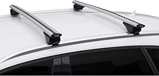 Twinny Load Universal Dachträgersatz Aluminium Fly Bar 124cm für PKW's mit offene & geschlossene Dach Schiene