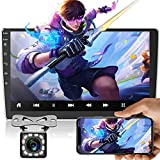Android Double Din Car Stereo with Bluetooth 10.1 Inch Touch Screen Car Radio with Bluetooth FM Radio WiFi GPS USB Mirror Link Split Screen + Backup Camera