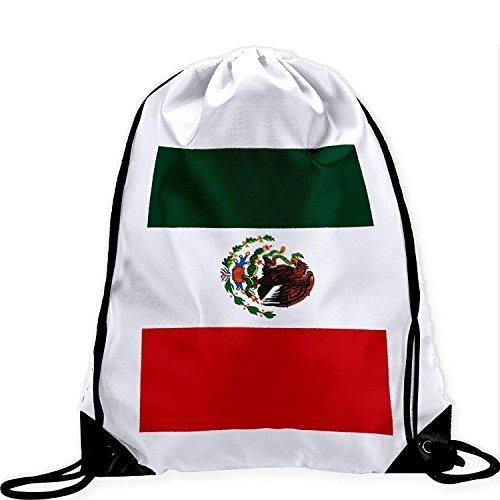 xinfub Bolso Grande con cordón y Bandera de México Imagen Vibrante de...