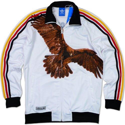 Adidas Originals 12 Col TT - Chaqueta Deportiva Mundial de Fútbol Inglaterra Francia - Blanco, S