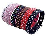 Lushpetz Diseñador Inspirado Collar de Perro en Rosa, Negro, Rojo, Monocromo y Blanco. Impermeable y Muy Fuerte.…