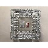 Deli Glassware:大型高級ガラス灰皿:大型灰皿 屋外屋内 レストラン 装飾用 (7 x 7)