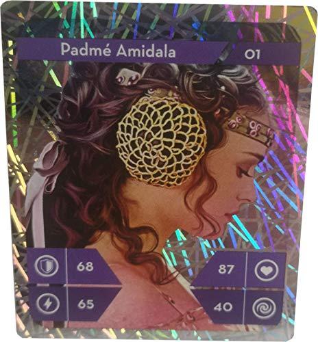 Sammelkarten 1 aus 48 Starwars Kaufland Sammelaktion Einzelkarten (Padme Amidala Glitzer Holo Nr 1)