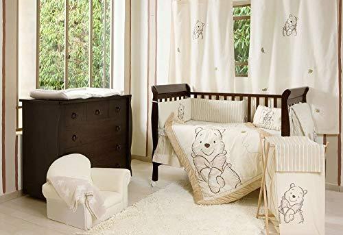 Baby Bedding Design Winnie Puuh 3-teiliges Bettwäsche-Set für Kinderbett, Beige/Braun – 100{8b12bc9e1eb4aa91255ca7e34a445e459fcc6feec2a84427715c852b7a1409b9} Baumwolle, mit Applikation, Spannbettlaken, Bettumrandung