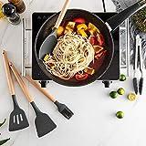 xmwm Utensilios de Cocina de Silicona Utensilios de Cocina Set Resistente al Calor Cocina Utensilios de Cocina antiadherentes Utensilios para Hornear, Rojo 9 Piezas Set B