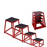 Plyometric Box Sets Fitness Exercise Jump Box Jump for Exercise Fit Training and Conditioning 12 Inch 18 Inch 24 Inch and 30 Inch