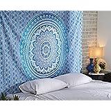 Aakriti Gallery Cotton Mandala Tapestry Wall Hanging - Bohemian Bedspread, Boho Blanket/Throw...