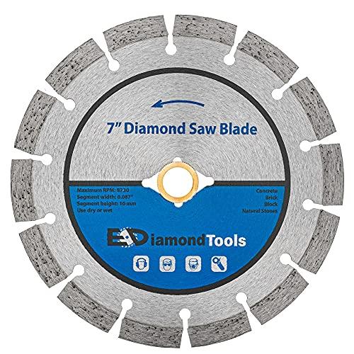 7' Segmented Diamond Saw Blade for Concrete Brick Block and Masonry 10mm Segment Height