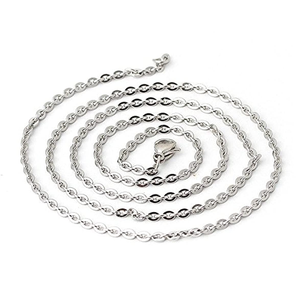 Wholesale 12 PCS Genuine Stainless Steel Fine Cable Chain Necklace Chains Bulk for Jewelry Making 18-30 Inches (30 Inch(2MM))