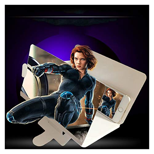 Telefon 8'Screen Lupe 3D Für Handy Große Faltbare Telefonständer, Mobiltelefon-Bildschirm-Lupe Great Smart Phone-Bildschirmverstärker für Filme, kompatibel mit einem Smartphone kompatibel