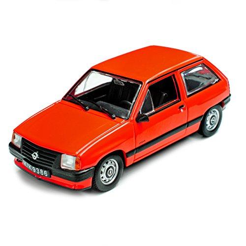 Unbekannt Opel Corsa A 3 Türer Rot 1982-1993 1/43 Modellcarsonline Modell Auto mit individiuellem Wunschkennzeichen