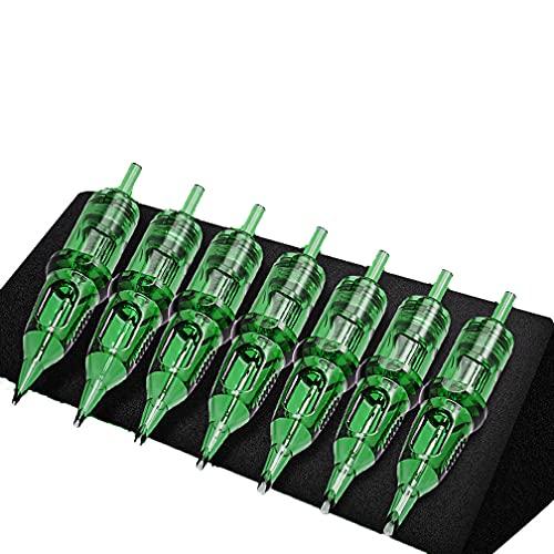 Paquete de 10 agujas de cartucho de tatuaje fino desechables, juego de agujas de cartucho de cejas para tatuaje, para máquina de pluma de cartucho de tatuaje (1209RM)