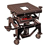 Pit Posse PP2551S Motorcycle ATV Scissor Floor Jack Lift Table Stand with Caster Wheels 13 Inches Thru 36-Inch-High - Stable - Safe - Comfortable - 2 Years Warranty