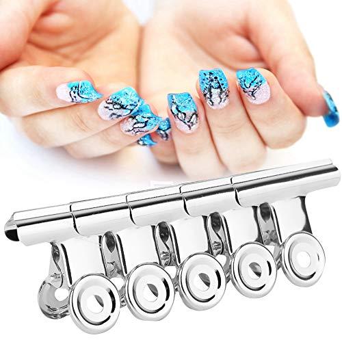Extension de clou Clips 5 pcs En Acier Inoxydable Argent C Courbe Clou Extension Clips Multifonctionnel Nail Art Accessoires Nail Art Clips