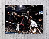 Lebron James Dwyane Wade NBA Poster Standardgröße | 45,7