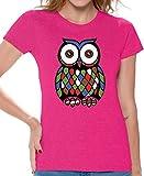 Awkward Styles Women's Owl Cute T Shirts Tee Tops for Women Creative Gift Pink L