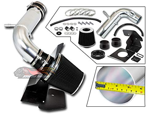 S & T Racing BLACK 2011-2018 For Explorer 3.5L V6 Non-Turbo COLD SHIELD AIR INTAKE KIT +FILTER