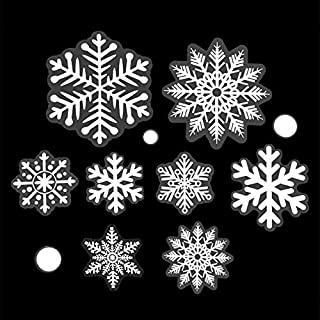 Sattiyrch 236 pcs Christmas Snowflake Window Clings Decal Wall Stickers - Xmas/Holiday/Winter Wonderland White Decorations Ornaments Party Supplies(7 Sheets)