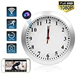Spy Camera Clock WIFI Hidden Camera Wall Clock TTCDBF HD 1080P Nanny Cameras Home and Office Wireless hidden camera security motion detection  remote viewing support  IOS / Android