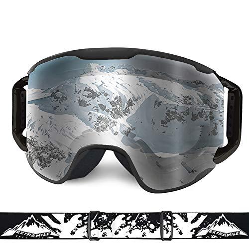 WLZP Gafas de esquí, OTG Gafas Antideslizantes para Deportes de Nieve