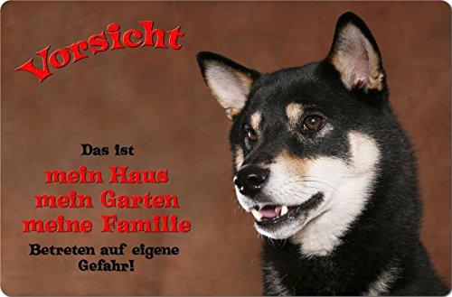 +++ SHIBA INU - Metall WARNSCHILD Schild Hundeschild Sign - SBA 06 T1