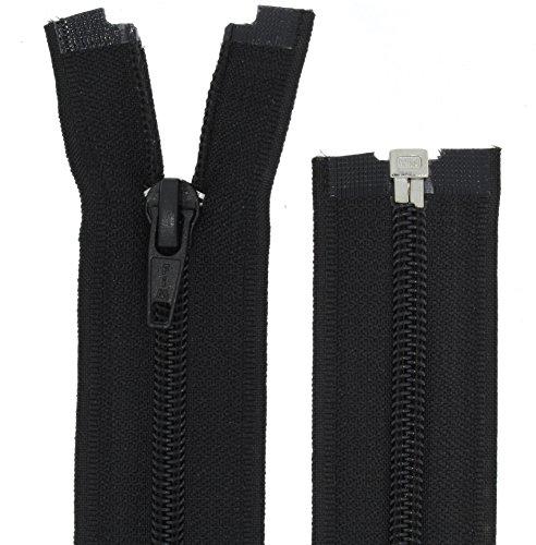 FIM Reißverschluss Kunststoff Spirale Nr.5 Teilbar für Jacken Farbe: 1 - schwarz (322), 70cm lang