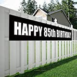 Maplelon Happy 85th Birthday Banner, 85 Birthday Party Sign Supplies Decorations