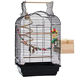 Birdhouses Parrot Cage, Wrought Iron Pet Bird Cage, with Breeding Bird Cage, Open Top Design External Birdhouse Easy-to-assemble Domestic Bird Cage