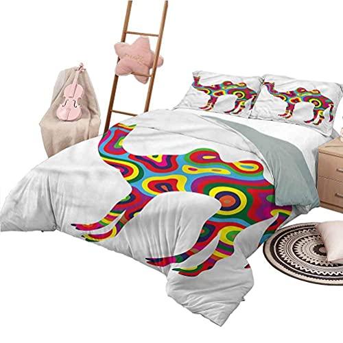 Quilt Set für Kinder in voller Größe Modern Lightweight All Season Tagesdecke Abstract Camel Figure