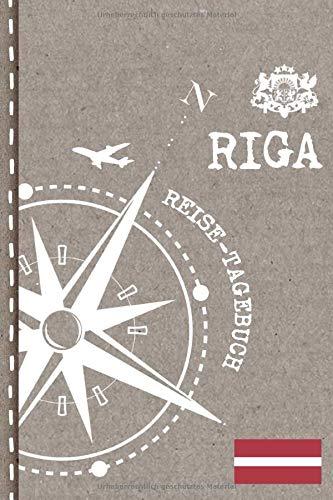 Riga Reisetagebuch: Reise Tagebuch zum Selberschreiben, ca. A5 - Journal Dotted Punkteraster, Bucket List für Urlaub, Ferien Trip Tour, Auslandsjahr, ... Auswanderer - Notizbuch Dot Grid punktiert