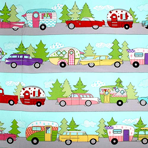 Retro Cars & Campers Dish Drying Mat
