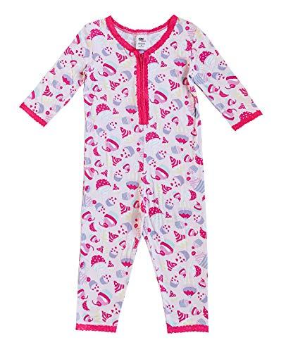 Esme Girl's Sleepwear 3/4 Sleeve Onesie 6 Cupcake