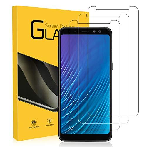 NONZERS 3 Pezzi Vetro Temperato per Samsung Galaxy A8 2018, Durezza 9H Pellicola Vetro, Anti-Olio, Anti Impronte Digitali Protezione dello Schermo, HD Pellicola Protettiva per Samsung Galaxy A8 2018