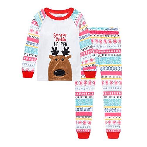 ANBANG Kinder Passende Pyjamas Baumwolle Weihnachtsmann Weihnachtspyjamas Kinder...