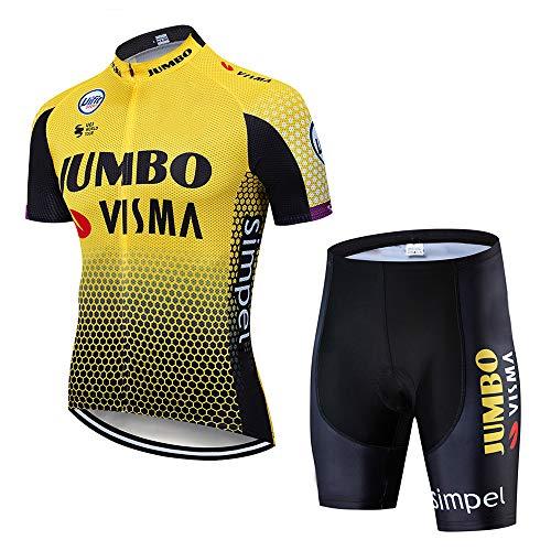 Ciclismo Maillot Hombres Verano Maillot MTB + Culotte Pantalones Cortos Bodies Ciclismo Ropa Maillot para Deportes al Aire Libre Ciclo Bicicleta