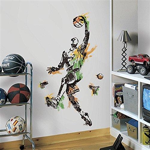 Bavaria Home Style Collection Hochwertiger Wandtattoo Tattoo Wand Tattoo Basketballspieler Basketball künstlerisch mit außergewöhnlichem Design Macht die Wand zu einen echten Blickfang