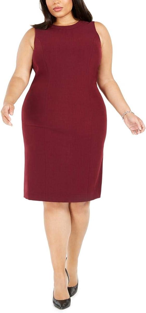 Kasper Women's Sleeveless Stretch Crepe Sheath Dress