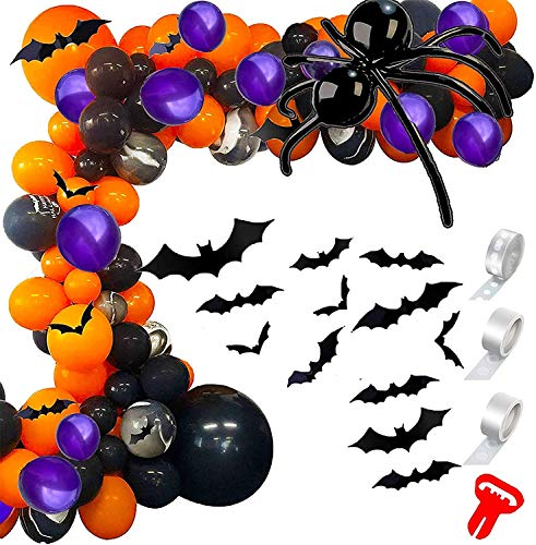 Conleke Halloween Ballon Garland Arch Kit für Halloween Day Party Dekorationen (Schwarz orange lila)
