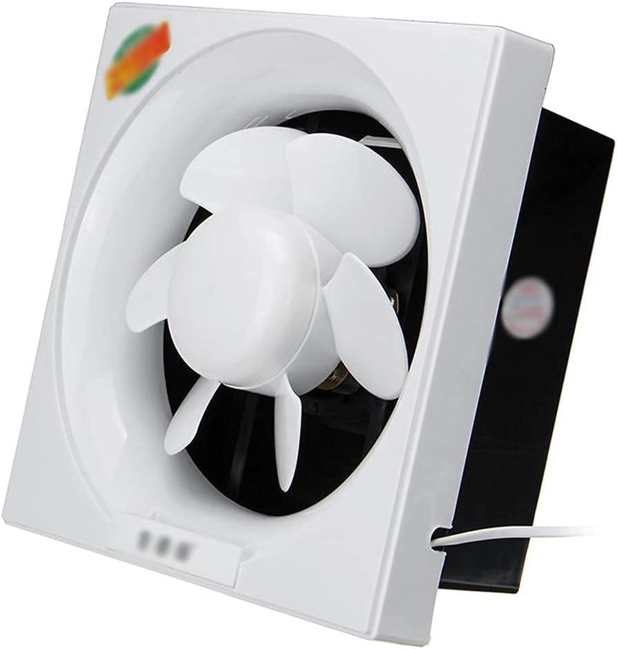 Extractor de 6-12 Pulgadas Ventilador de ventilación Extractor de Aire Ventilador de Alta Velocidad Baño Cocina Inodoro Ventilación de Aire Ventana Ventilador de Pared Ventilador de Escape (T