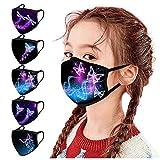 5 Stück Kinder mit Motiv Multifunktionstuch 3D Schmetterling Print Waschbar Wiederverwendbar Baumwolle Mund-Nasen Bedeckung Atmungsaktiv Halstuch Schals Jungen Mädchen