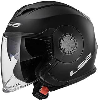 LS2 Helmets Unisex-Adult Solid Verso Open Face Helmets (Matte Black, Large) - 570-1014