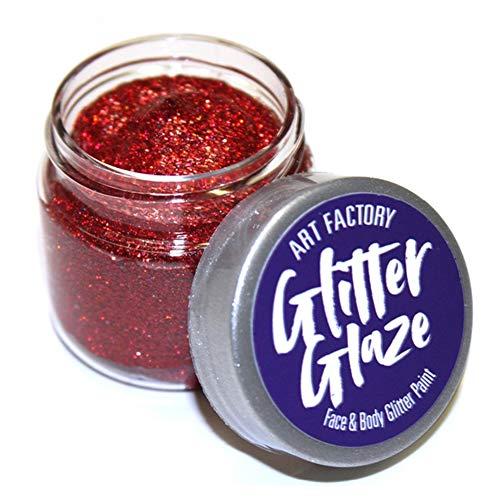 Art Factory Glitter Glaze - Rouge (1 oz)