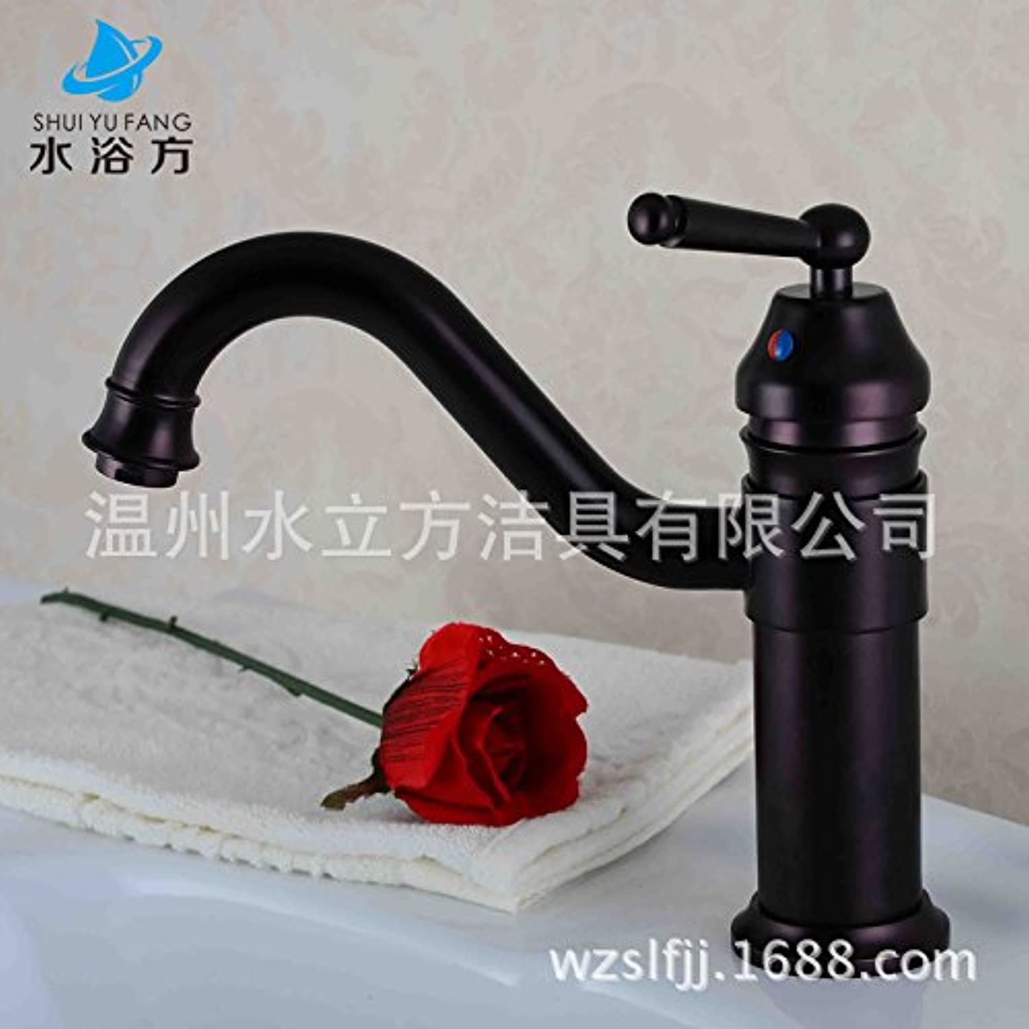 Fbict Basin hot and Cold Faucet Basin hot and Cold Water Faucet gold Copper Bathroom wash Basin Faucet for Kitchen Bathroom Faucet Bid Tap