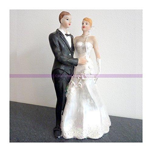 Hobi De Pareja de Novios romántico, Resina, Altura 18cm, Figuras encadenados